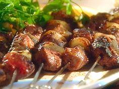 Marinated Lamb Kebabs with a Chile-Yogurt Sauce