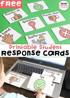 Free Printable Student Response Cards for Distance Learning