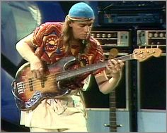 Jaco Pastorious and his Fender Jazz Bass