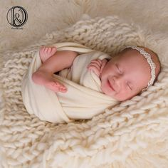D/&J DON/&JUDY Hand Crochet Round Blanket with Fringe Newborn Photography Props