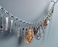 How To Make an Easy Dangling Earring Organizer