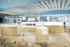 Nendo's Women's Department in Japanese Store - Design Milk Visual Merchandising, Nendo Design, Japanese Store, Retail Space, Shop Interiors, Design Furniture, Commercial Interiors, Ceiling Design, Retail Design