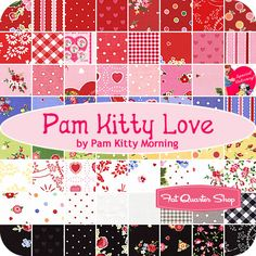 Love these prints!!! Pam Kitty Love Yardage Pam Kitty Morning for Lakehouse Dry Goods - Fat Quarter Shop