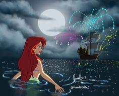 Elsa Mermaid, Mermaid Disney, Disney Artwork, Disney Drawings, Disney Girls, Disney Love, Disney Stuff, Walt Disney, Disney Princess Fashion