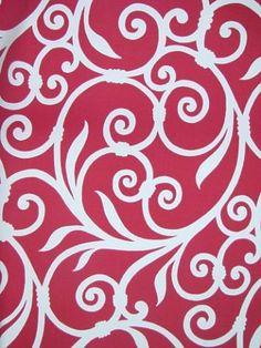oriental pattern red fabric