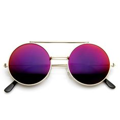 Limited Edition Retro Round Circle Steampunk Revo Lens Flip Up Sunglasses 8966 from zeroUV -- these are beautiful