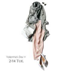 上品なグレーコーデのボトムに淡ピンク投入で女っぷりコーデの完成!Marisol ONLINE|女っぷり上々!40代をもっとキレイに。