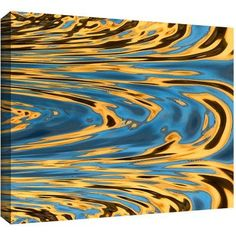 Dean Uhlinger Refective Thoughts Gallery-Wrapped Canvas, Size: 24 x 32, Blue