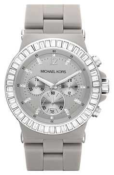 Michael Kors Crystal Topring Ceramic Watch available at Nordstrom Mk Handbags, Handbags Michael Kors, Michael Kors Bag, Michael Kors Watch, Brown Handbags, Outlet Michael Kors, Cheap Michael Kors, Marken Outlet, Accessoires Divers