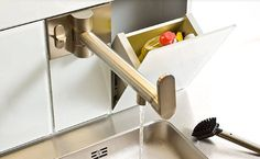 Wall mounted kitchen double handle mixer tap - B1 - ArchiExpo
