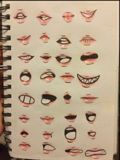 Diferentes tipos de dibujos (bocas) Fields Of Gold, Anime Mouth Drawing, Guy Drawing, Anime Drawings Sketches, Cartoon Drawings, Drawings Of Mouths, Boca Anime, Girl Pose, Tattoo Dotwork
