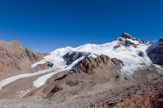 Picture of glacier on Andes Mountain