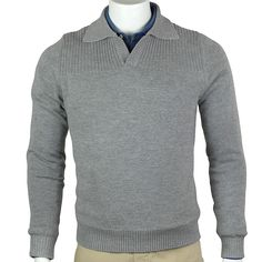 Shadow Grey Heather Golf Style, Golf Fashion, Men Sweater, Pullover, Grey, Sweaters, Gray, Golf Outfit, Men's Knits