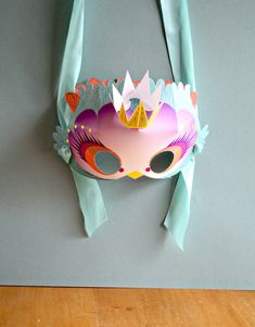Printable princess birdie mask at Smallfull