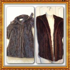DIY repurposed mink fur jacket into fur vest