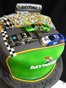 David B-day Next Year Daytona 500 cake