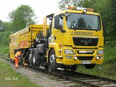 MAN. Rail reparatie truck Oostenrijk