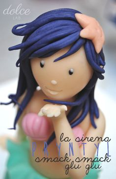 Gumpaste, Sugar, Modelling chocolate Mermaid La Sirena Pryntyl: free tutorial