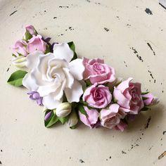 Tres en uno: corpiño collar o diadema. flor de por FloraAkkerman