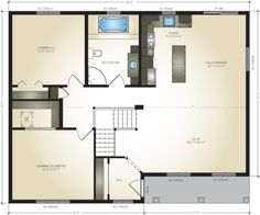 High quality modular homes, contact our Pro-Fab Experts. Find your Turquoise model at the best price. Turquoise, Modular Homes, Country Style, Floor Plans, Construction, House, Modern Houses, Trendy Tree, Building