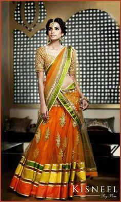 2015 trendy bridal lehenga designs for indian wedding Indian Bridal Lehenga, Indian Bridal Fashion, Indian Bridal Wear, Indian Wedding Outfits, Pakistani Outfits, Indian Sarees, Indian Outfits, Lehenga Designs, Mehndi Designs