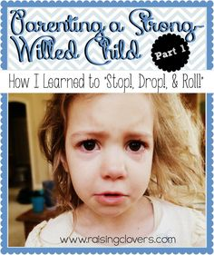 Parenting a Strong-Willed Child: Part 1 by Raising Clovers