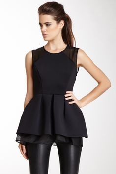 Neoprene Peplum Top -wish I could wear something like this without someone thinking I'm pregnant. Lol