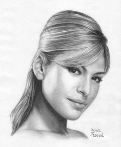 Eva Mendes Drawing by Ameryn
