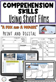 """Use the SHORT FILM """"A Fox And A Mouse"""" to teach students comprehension skills! This print and digital resource teaches the skills of character and plot development. Perfect for the ESL classroom! Teaching Reading, Learning, English Language Learners, Teacher Tools, Graphic Organizers, Teaching English, Tool Kit, Comprehension, Esl"""