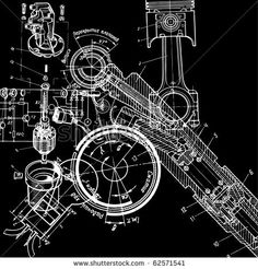 Technical Drawing Stock Vector 62571541 : Shutterstock
