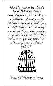 25 Wedding Money Poem Cards For Your Invitations Choice Of Designs Fast Posting