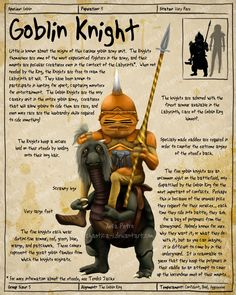 Labyrinth Guide - GoblinKnight  by =Chaotica-I  Fan Art / Digital Art / Painting & Airbrushing / Movies & TV©2011-2012 =Chaotica-I