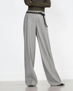 Image 2 of WIDE LEG TROUSERS from Zara