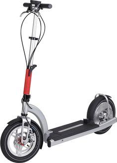 La trottinette d'Electric Mood repose sur 2 roues gonflables de 12''