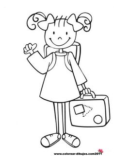 Dibujos para colorear. Maestra de Infantil y Primaria.: Dibujos de niños y niñas para colorear