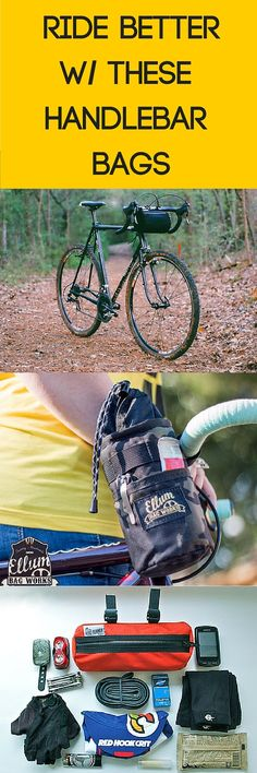 Checkout these amazing American made, handmade, and waterproof bike handlebar bags. #cycling   SHOP: http://nymb.co
