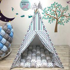 Купить Вигвам в морском стиле для ребенка. Шалаш, палатка, домик. - вигвам, вигвам для детей