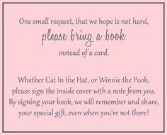 Basic Pink Bring a Book Insert