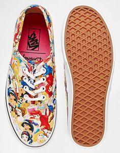 Bild 3 von Vans Authentic – Stoffschuhe mit Disney-Prinzessinnen-Muster
