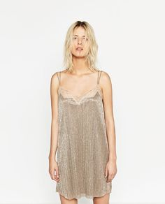 ZARA - WOMAN - PLEATED CAMISOLE DRESS