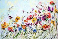 Afbeeldingsresultaat voor schilderij bloem woonkamer