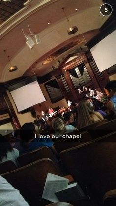 Love hearing students love chapel! Great photo by lisahum #AsburyU