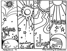 Bible Timeline Creation Coloring Pages