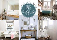 Baños con estilo. Shabby-chic Más en www.ochik.com