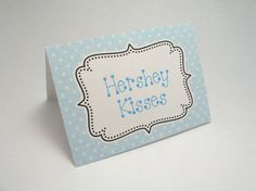 Baby Boy blue food tent cards  Place cards  by JustScrapsNThings, $4.20