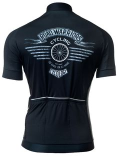 Road Warriors Black Cycling Jerseys from Cycology Clothing