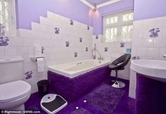 Ordinary looking house is decorated entirely in PURPLE inside ...