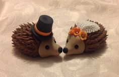 Hedgehog Wedding Cake Topper Gum paste $50 by SweetPerfectionCakes