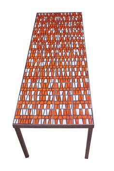 MID CENTURY MODERN ROGER CAPRON TILE TABLE FRENCH MODERN 1950S EAMES