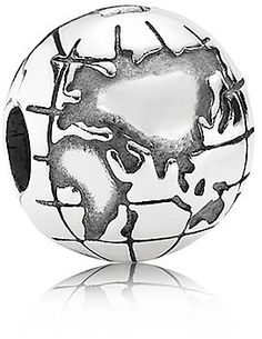 Globe clip in sterling silver pandora pandora charm collection pandora globe charm in 925 sterling silver 791182 sciox Choice Image